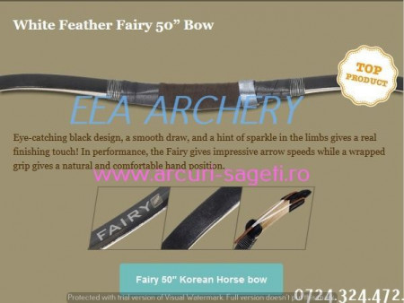 Arc HorseBow White Feather Fairy 50 inch