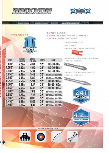 Shaft Carbon Skylon Brixxon Id4.2 - Set 12 bucati