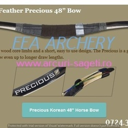 Arc HorseBow White Feather Precious 48 inch