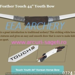 ARC JUNIORI HORSEBOW WHITE FEATHER TOUCH 44""