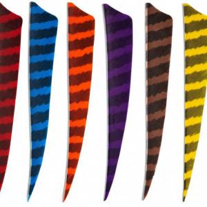 Pene naturale Skylon Shield 4 inch - Zebrate