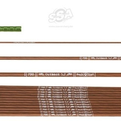 Shaft sageata Bucktrail Carbon Outback 5.2 - Set de 12 bucati