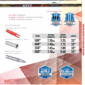 Sageata Carbon Skylon Rove ID 6.2 - set 6 buc.