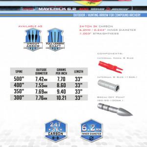 Shaft Carbon Skylon Maverick Id6.2 - Set 12 bucati