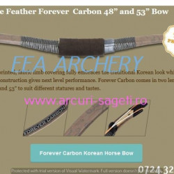 White Feather HorseBow Forever Carbon