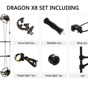 Pachet Arc Compound Sanlida Dragon X8 - Camo