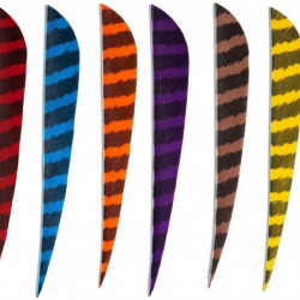 Pene naturale Skylon Round 5 inch - Zebrate