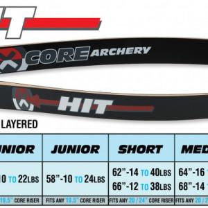 Set Arc Recurve Core Archery Hit