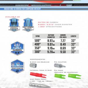 Shaft Carbon Skylon Empros Id8.0 - Set 12 bucati