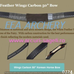 Arc HorseBow White Feather Wingz Carbon 50 inch