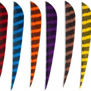 Pene naturale Skylon Round 4 inch - Zebrate