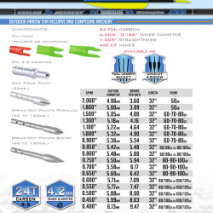Sageata Carbon Skylon Radius Id4.2 - Set 6 bucati
