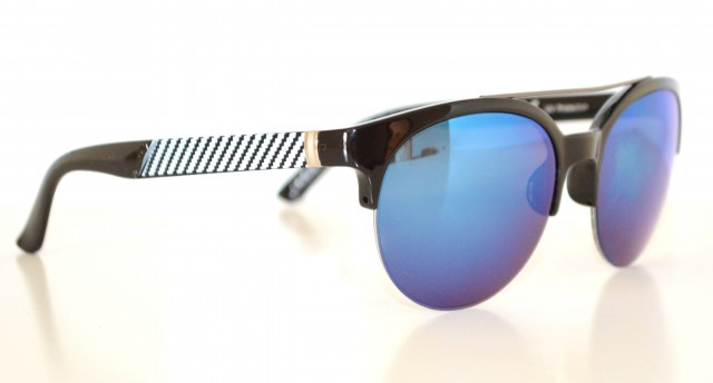 Occhiali da sole uomo neri lenti blu rotonde man sunglasses gafas de sol z5 - Occhiali lenti blu specchio ...