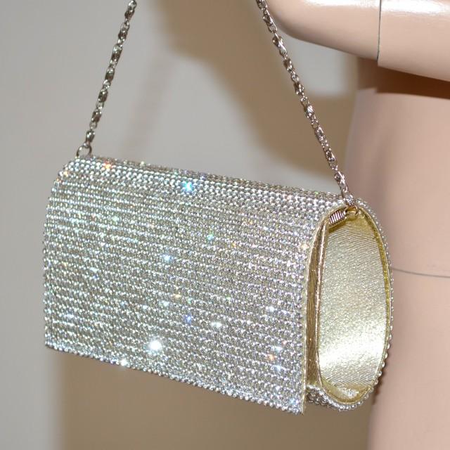 Borse Da Sera Con Strass : Pochette cristalli borsello cerimonia donna strass borsa