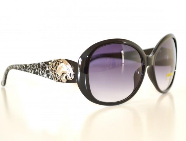 Occhiali da sole donna neri maculati leopardati lenti for Occhiali neri da sole