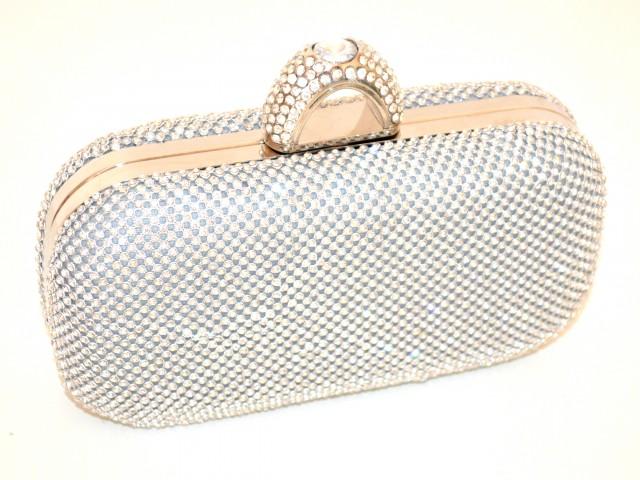 Contagioso verticale inizio  POCHETTE ARGENTO CRISTALLI borsello donna STRASS borsa borsetta clutch  ELEGANTE cerimonia E58