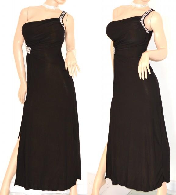 0aa54c0eb3ad Abito Da Sera Nero Lungo Accessori   Abito lungo vestito donna nero  elegante da sera cerimonia