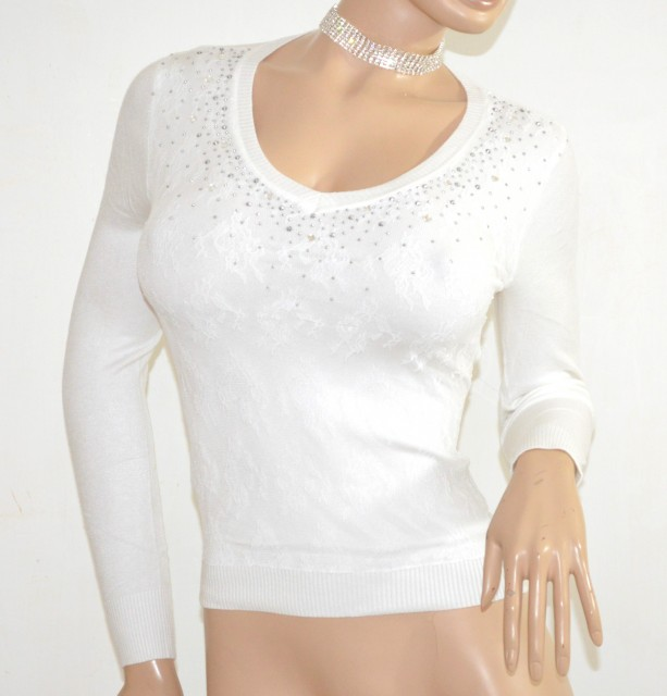 Maglietta bianca donna manica lunga sottogiacca pizzo maglia jpg 613x640 Sottogiacca  pizzo 983a826ddfe0