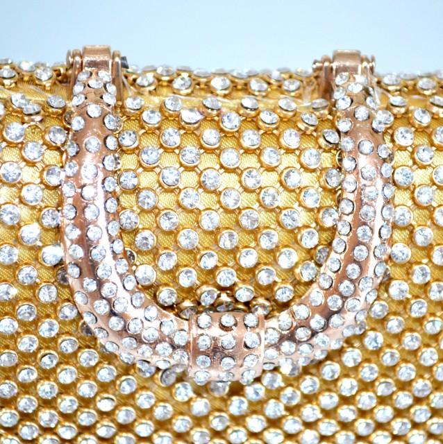 Borse Da Sera Con Strass : Pochette donna cristalli oro da cerimonia dorata strass