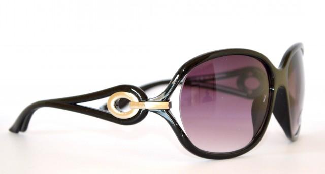 6891f177d2 OCCHIALI da SOLE NERI donna lenti sfumate ovali cerchi argento 35