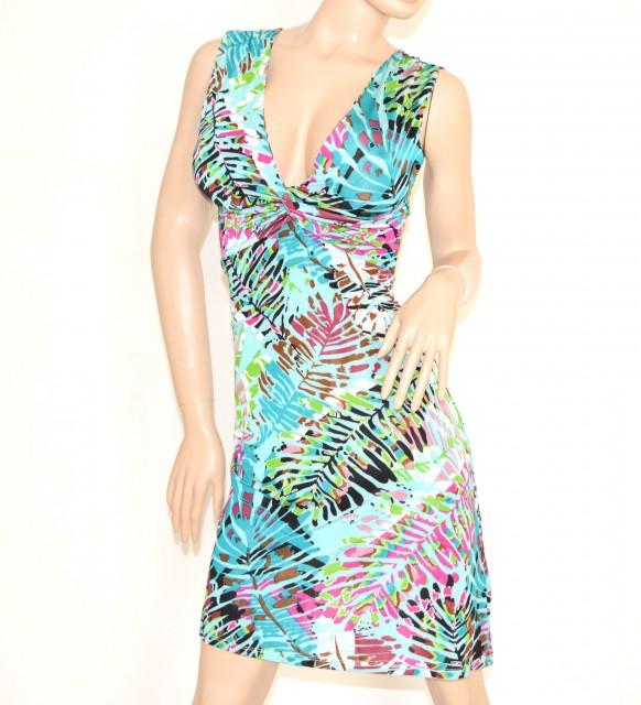 huge selection of 43e6a 8d49d Abito vestito donna viscosa elasticizzato Scollatura a V ...