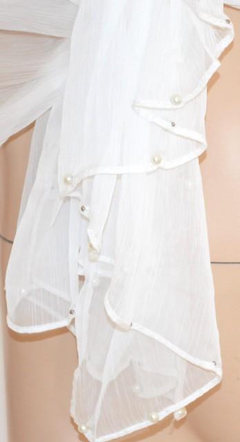 Stola seta bianca