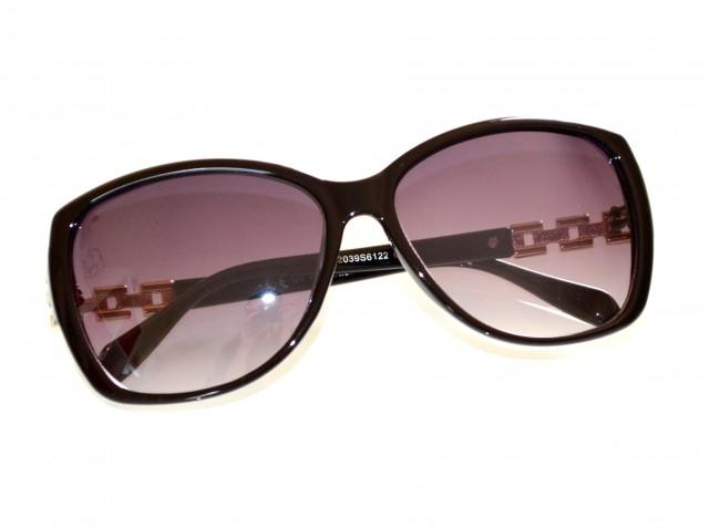 Occhiali da sole donna neri oro lenti ovali sunglasses for Occhiali neri da sole