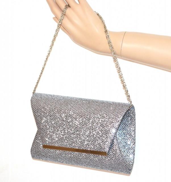 f99a227ea826f POCHETTE GRIGIO ARGENTO borsello brillantini donna borsa elegante clutch  bag A8