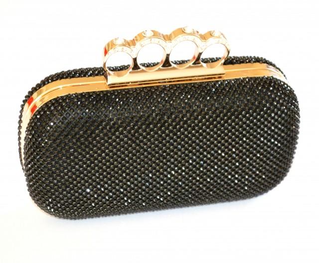 Borse Da Sera Con Strass : Pochette nera donna borsello clutch strass borsa elegante