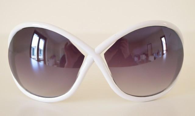 7475db245a Occhiali da sole donna bianchi lenti protezione solare UV400