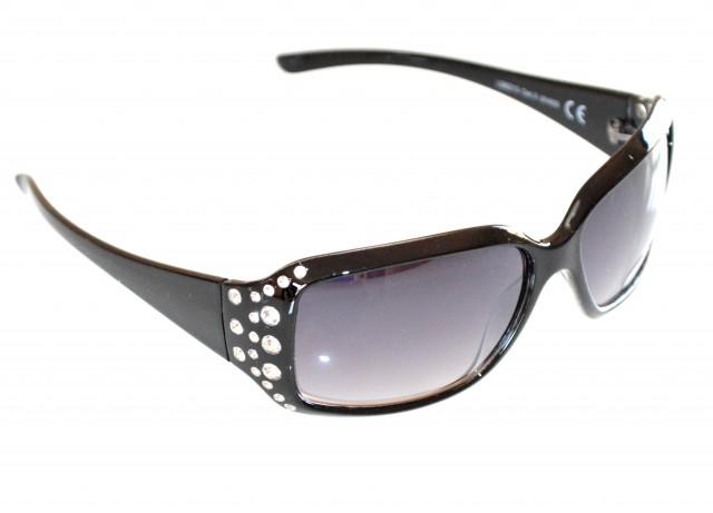 Occhiali da sole donna neri strass brillantini cristalli for Occhiali neri da sole
