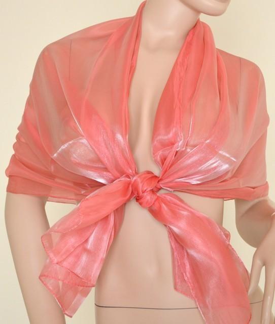 high fashion pretty cool best authentic Stola Coprispalle donna rosa corallo metallizzato elegante per abito da  sera\cerimonia F1