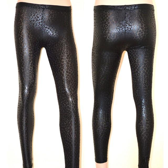 comprare popolare d350d e247f LEGGINGS donna leggins pantaloni pelle nera pantacollant fuseaux