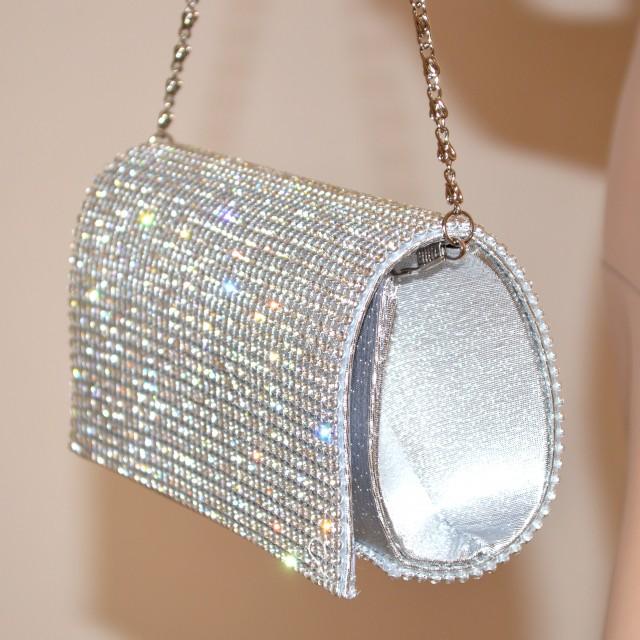 Borse Da Sera Con Strass : Pochette cristalli donna mini borsello cerimonia strass