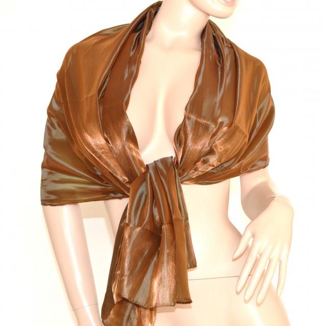 online retailer 90f32 5ea47 STOLA FOULARD donna da CERIMONIA elegante BRONZO coprispalle ...