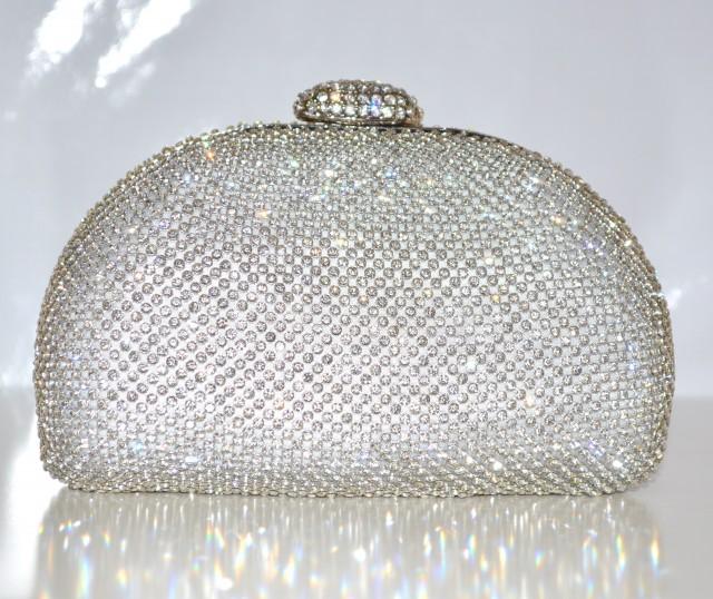 Borse Da Sera Con Strass : Pochette donna cerimonia clutch argento con strass