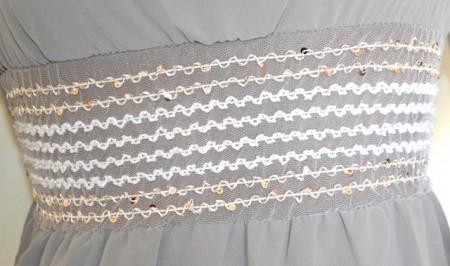 ABITO BEIGE vestito donna manica lunga perline elegante cerimonia made in Italy G21