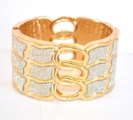 BRACCIALE donna ORO RIGIDO a schiava BRILLANTINI pulsera bracelet браслет 590