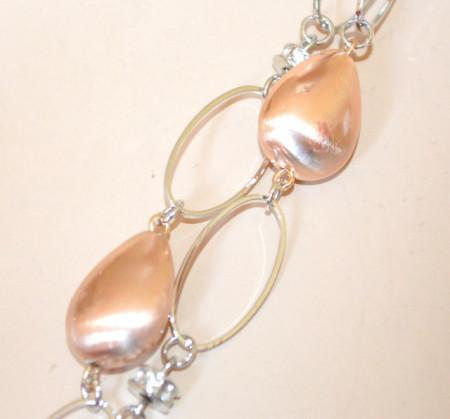 COLLANA LUNGA donna ARGENTO charms pietre oro dorate rosa catena maglie anelli collier strass N32