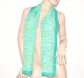 FOULARD donna seta velato stola coprispalle x abito\vestito bufanda mujer leopardato  verde 59