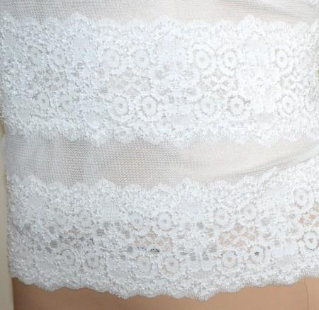 MAGLIETTA BIANCA donna maglia velata pizzo manica lunga ricamata sottogiacca футболка G60