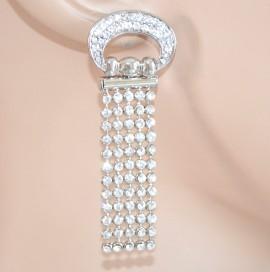 ORECCHINI STRASS ARGENTO donna cristalli pendenti brillantini earrings 1155