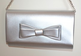 POCHETTE ARGENTO donna borsello borsa elegante clutch bag da sera cerimonia G22