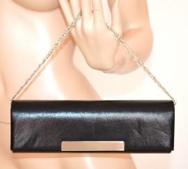 POCHETTE BORSELLO donna NERO borsa elegante da sera CERIMONIA clutch bag bolsa 900A
