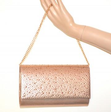 06f16d5ca4 POCHETTE ORO ROSA donna borsello strass borsa cerimonia clutch bag cristalli  G46