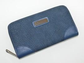 PORTAFOGLIO BLU donna portamonete borsello eco pelle clutch borsellino regalo G5