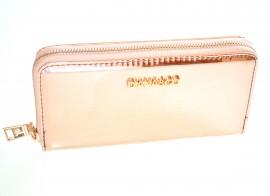 PORTAFOGLIO donna ORO ROSA mini borsello metallizzato pochette clutch bag F30
