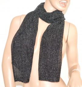 SCIARPA donna NERA BRILLANTINATA foulard pashmina scialle écharpe scarf шарф 5