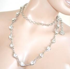 CINTURA donna ARGENTO gioiello strass cristalli sposa elegante da cerimonia F30