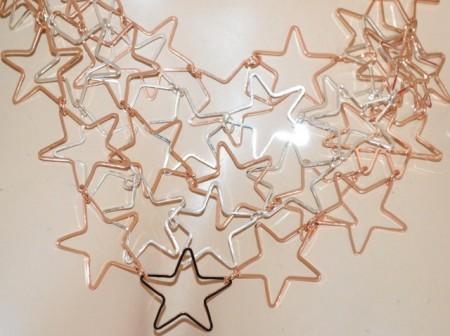 COLLANA donna girocollo ciondoli stelle oro rosa argento platino collier GP30